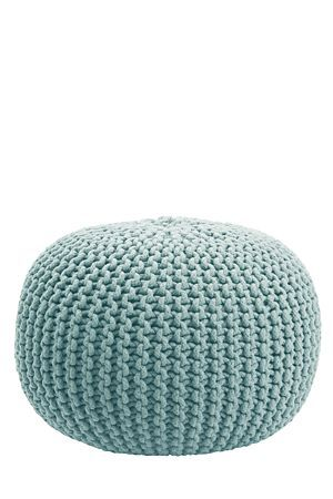 """Our cable knit weave pouffe is a basic way to decorate any lounge setting. Filled with recycled polystyrene beads, this pouffe provides comfort with ease of mobility.<div class=""""pdpDescContent""""><BR /><b class=""""pdpDesc"""">Dimensions:</b><BR />L30xH50 cm<BR /><BR /><b class=""""pdpDesc"""">Fabric Content:</b><BR />100% Cotton<BR /><BR /><b class=""""pdpDesc"""">Wash Care:</b><BR>Spot clean only. Do not submerge in water</div>"""