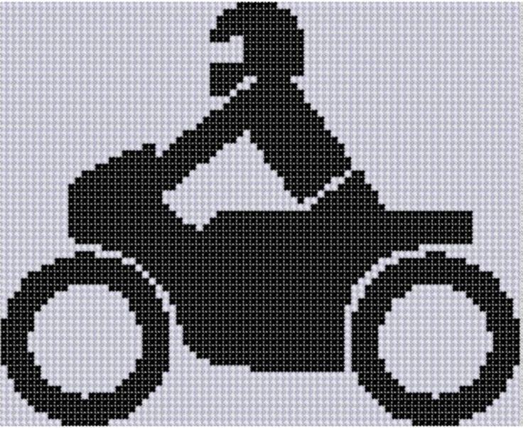 Harley Davidson Motorcycle Cross Stitch Patterns