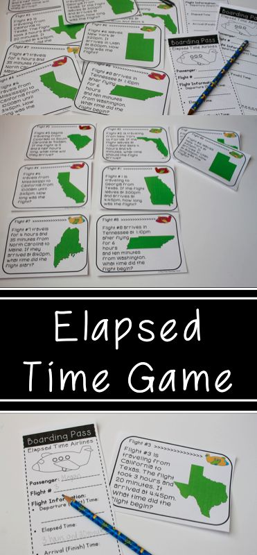 Elapsed Time Game - This is an engaging way to practice elapsed time. Could be played as a math center or with in whole group!