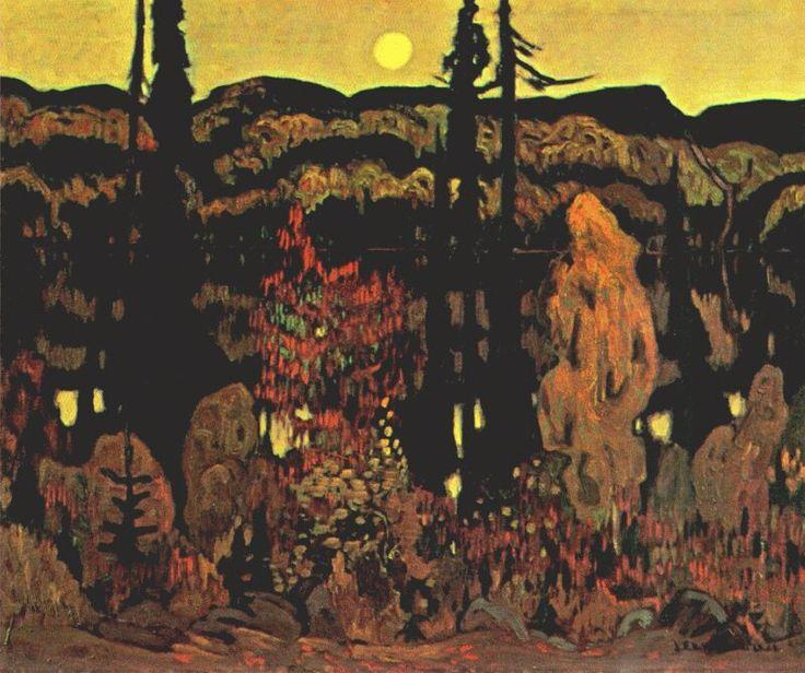 JEH-MacDonald-The-Lake-October-Evening-1922.