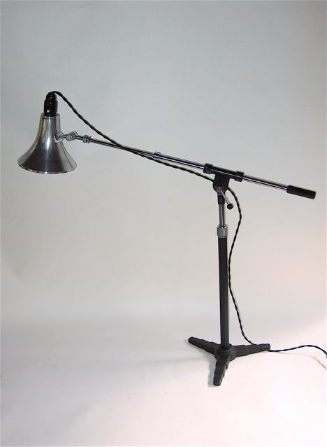 70u0027s MICROPHONE STAND LAMP Vintage Industrial Lighting, Desk Lamp, Lamps,  Bedrooms, Bulbs