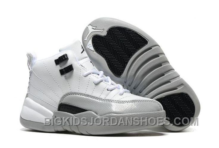 "http://www.bigkidsjordanshoes.com/new-2017-kids-air-jordan-12-barons-basketball-shoes.html 2017 KIDS AIR JORDAN 12 ""BARONS"" BASKETBALL SHOES NEW ARRIVAL Only $85.00 , Free Shipping!"