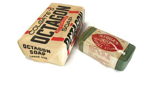 Vintage Octagon Soap and Requa ' s Pumice Stone by TreasurePicker