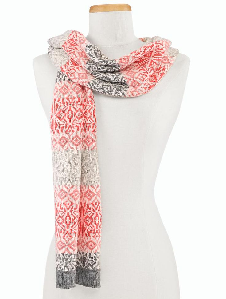 Talbots - Ombre Fair Isle Scarf       i HATE to shop but I want ...