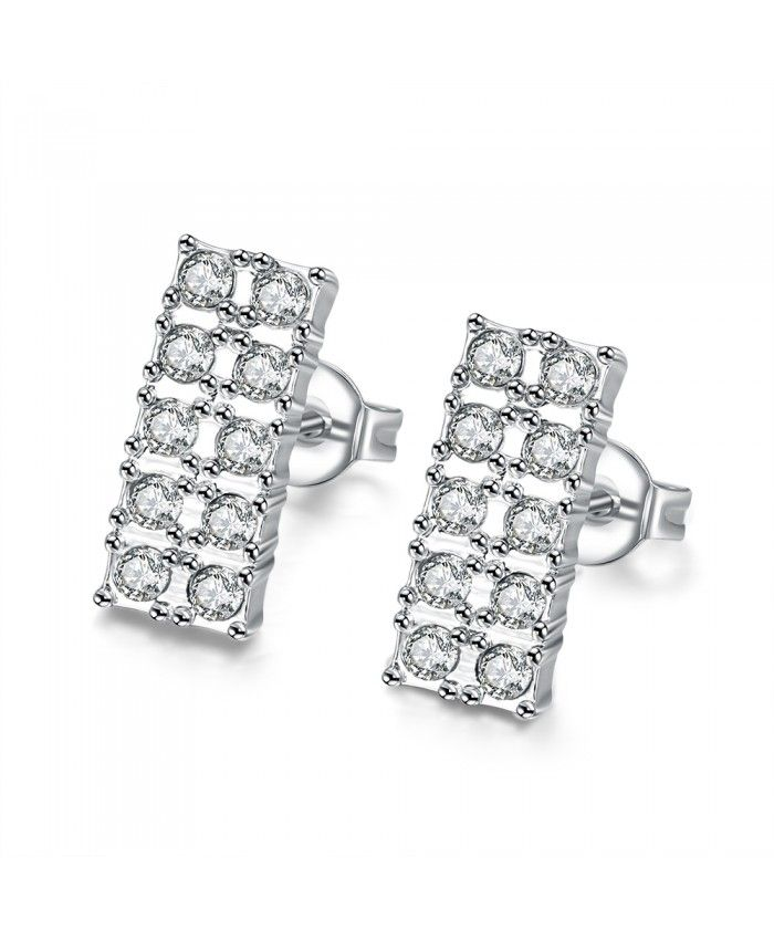 E030 Nickle Free New Fashion Jewelry Antiallergic Platinum Plated Earrings For Women