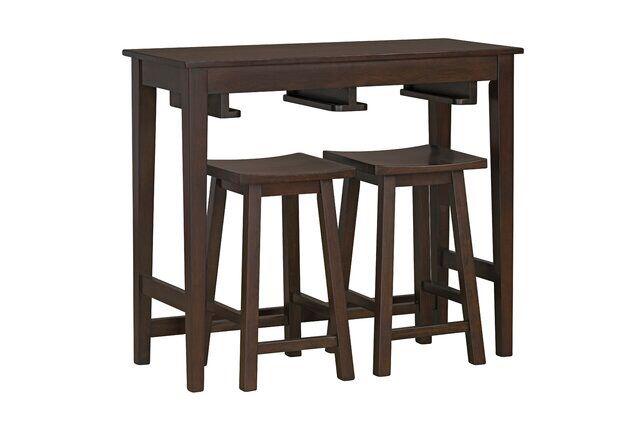 Atli 3 Piece Counter Height Dining Set Counter Height Dining Sets Wood Table Bases Dining Room Sets 3 piece counter height table set