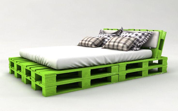 die besten 25 bett aus paletten ideen auf pinterest bett aus paletten bauen paletten bett. Black Bedroom Furniture Sets. Home Design Ideas