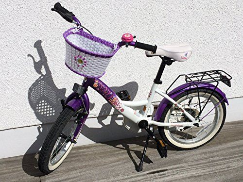 Kids' Bicycles - bikestar 406cm 16inches Kids Children Girls Bike Bicycle Classic  Colour Lilac  White * To view further for this item, visit the image link.