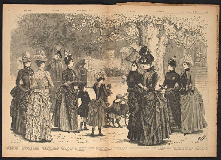 De Bazar : geïllustreerd tijdschrift voor modes en handwerken, 1 juni 1878, p. nr. 11, p. 84-85, spread