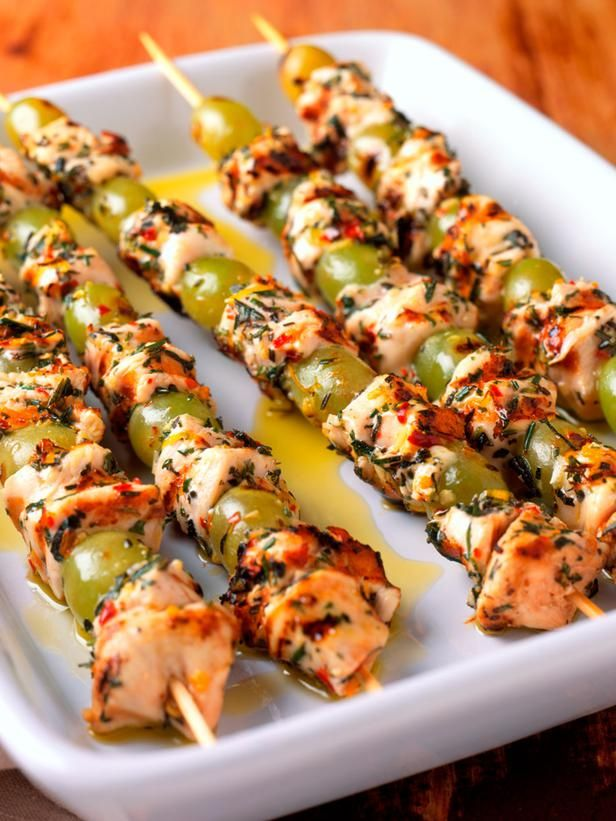 mediterranean recipes | Mediterranean Grilled Chicken and Grape Skewers Recipe : : Recipes ...