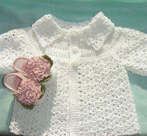 Mary Helen artesanatos croche e trico: Casaquinhos bebe crochê e trico