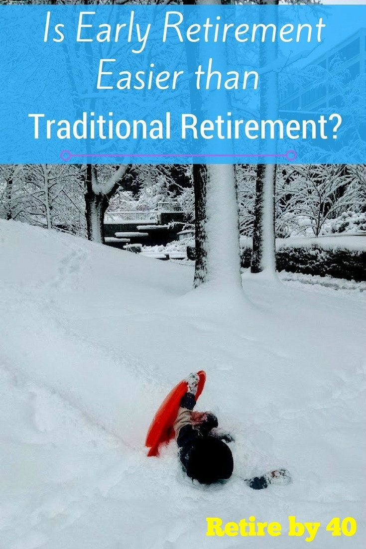A lot of people have a difficult transition to retirement, but early retirees don't have those problems. Is early retirement easier?  via @retireby40