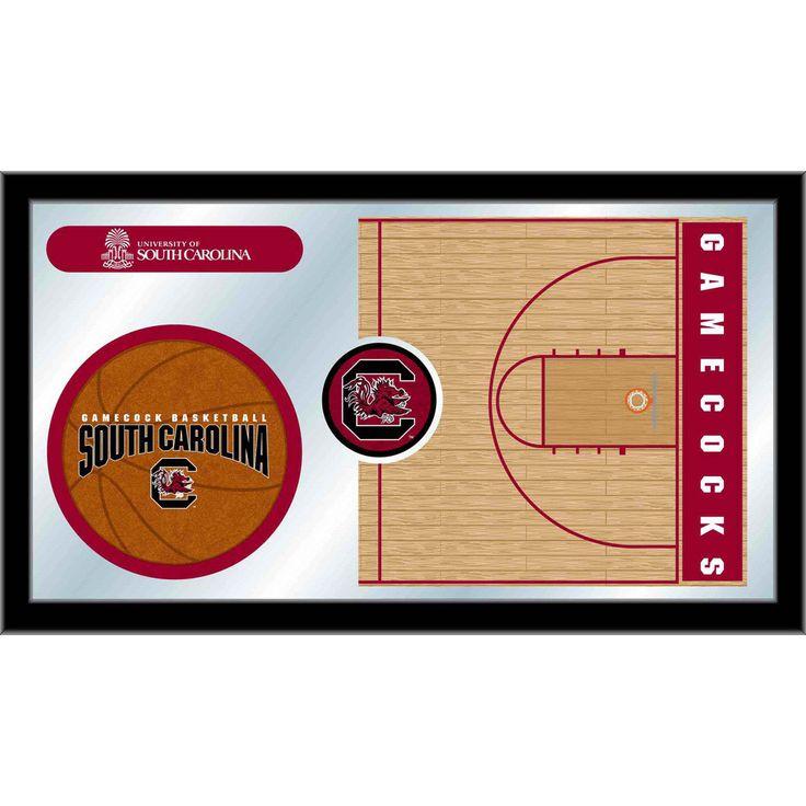 South Carolina Gamecocks Basketball Court Mirror Wall Art