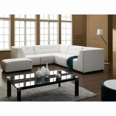 Sofa Mart White Bonded Leather Sectional Sofa by True Contemporary at Wholesale Furniture Brokers Canada Canada Canada This leather sectional sofa features a