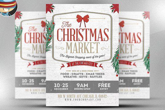 Rustic Christmas Flyer Template by FlyerHeroes on @creativemarket