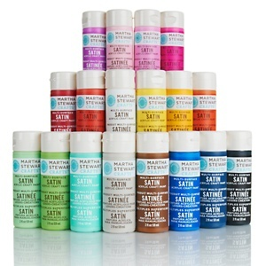 Martha Stewart Crafts™ Satin Finish Acrylic Paint Set 18pk - Bright or Muted at HSN.com.