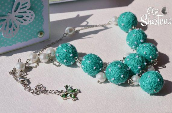 Ожерелье Браслет и Брошь из Ниток Sweet around в от OlgaShestova