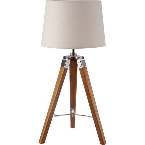 New Oriental Nicki Natural Small Tripod Table Lamp