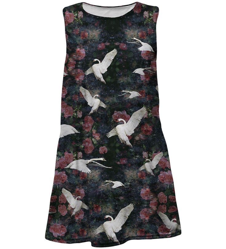 Swans summer dress for kids, Mr. GUGU & Miss GO
