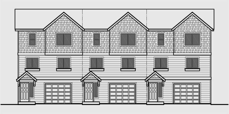17 best images about triplex and fourplex house plans on for Building a fourplex