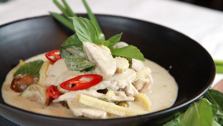 Kyllinggryte med grønn curry paste