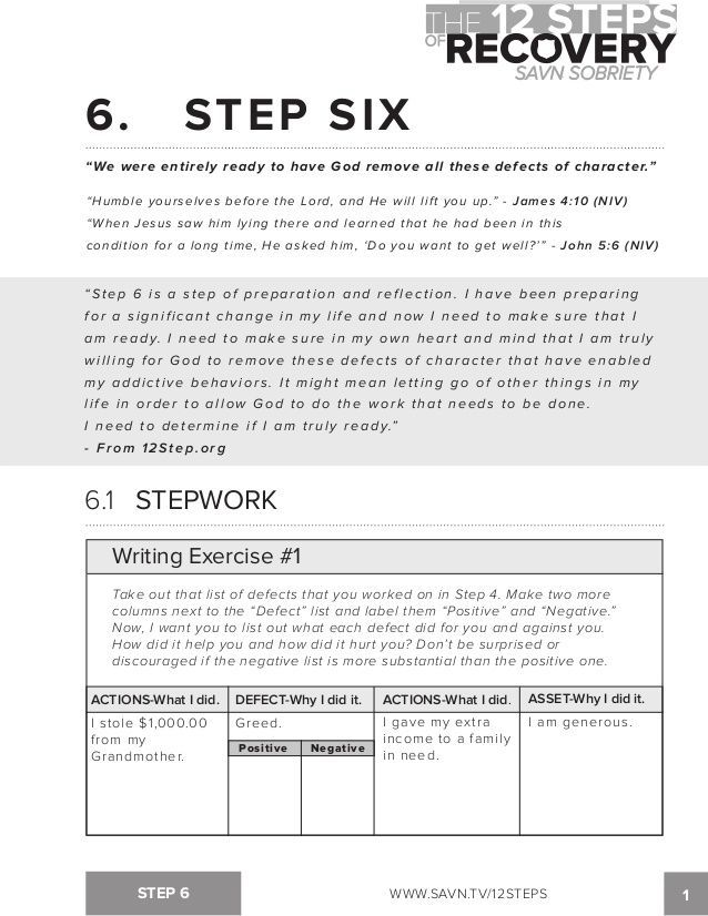 Pin On 12 Step Worksheets