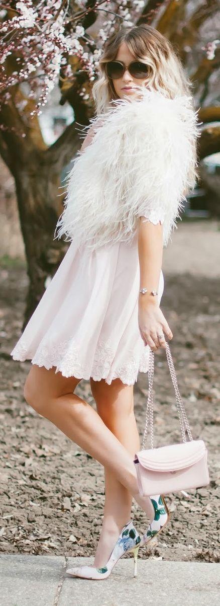 Floral Pumps And Lace Trims Outfit Idea by Cara Loren