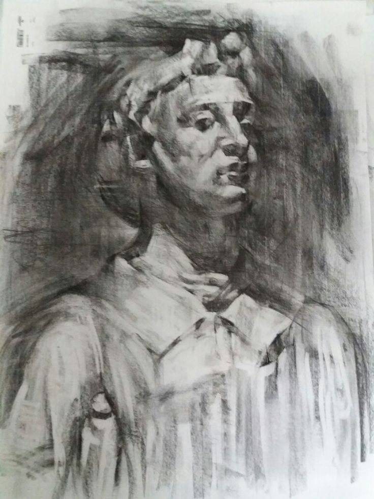 Young priest,charcoal on paper,60x70