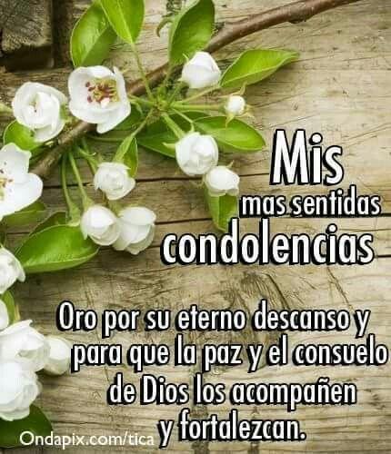 Expresión de condolencias