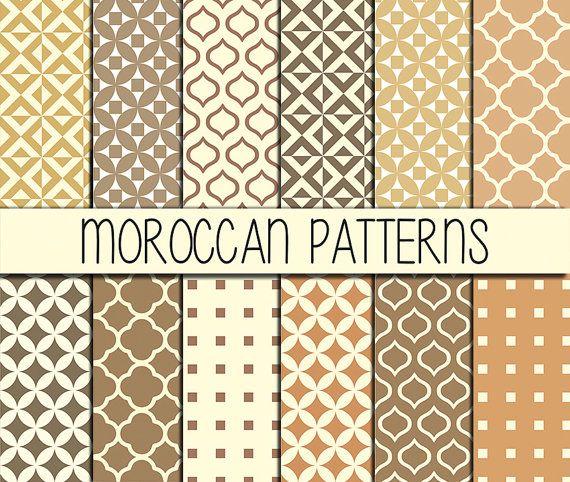 Moroccan tiles  Instant Download  Set of 12 by babushkadesign
