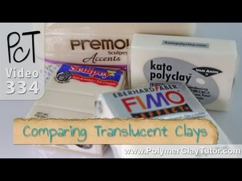 Video comparing translucent clays.  Does not include Pardo.  Many other video links on right side. #Polymer #Clay #Tutorials