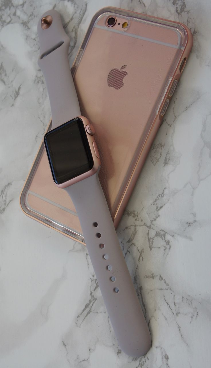 Rose Smoke Hybrid Case x Rose Gold iPhone 6s x Rose Gold Apple Watch