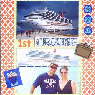 Cruise Scrapbook Page 8 x 8