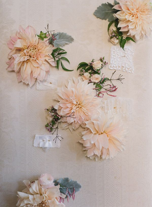 Merci New York styling for Delphine Manivet Campaign.: Flowers Pin, Wedding Ideas, Wedding Photo, Floral Wall, Beautiful Flowers, Elizabeth Messina, New York, Bridesmaid Bouquets, Fabrics Flowers