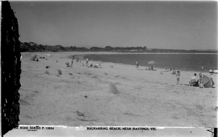 Balnarring Beach, Looking towards Crib Point and now Yatch Club