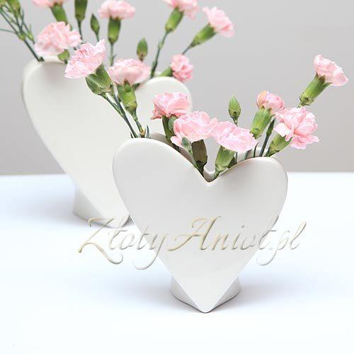 WAZON SERCE do kwiatowych kompozycji - dekoracja stołu komunijnego
