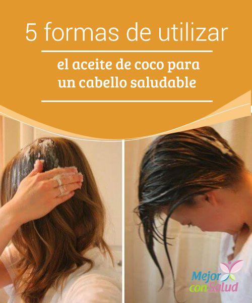 5 formas de utilizar el aceite de coco para un cabello saludable  El aceite de coco es un producto de origen vegetal que ha ganado fama en los últimos años gracias a sus aplicaciones medicinales y cosméticas.