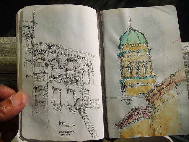 sketches. I really want to get a travel sketch book and just sketch whatever whenever wherever :) yea