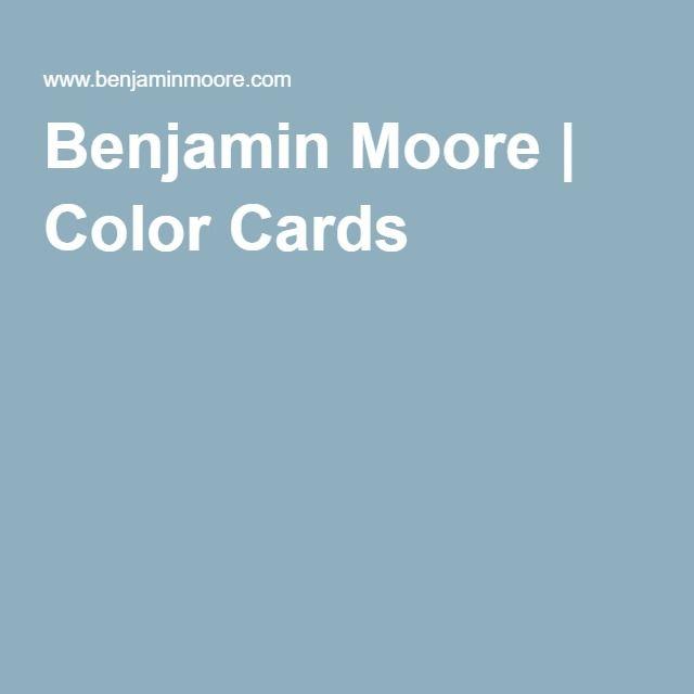 Benjamin Moore   Color Cards