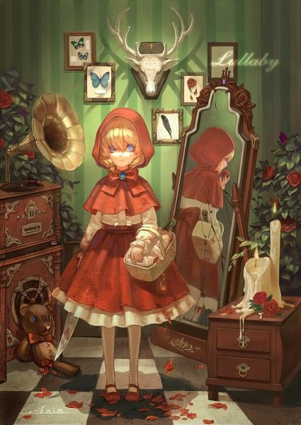 .Axis., Red Riding Hood, Red Riding Hood (Character), Rose Petals, Red Cape, Dagger