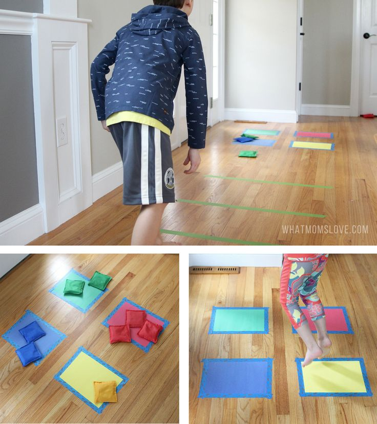 Bean Bag Toss. Construction paper and bean bags. Color matching ...