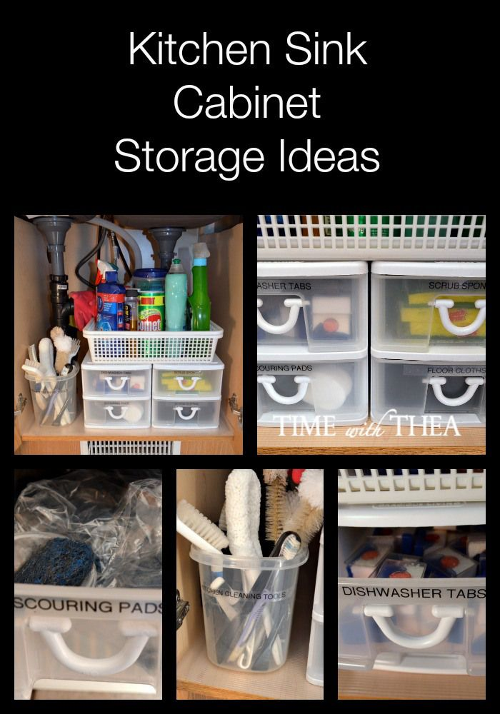 Kitchen Sink Cabinet Storage Ideas - Practical organizing tips and storage ideas for how to make the most of your storage space under the kitchen sink.