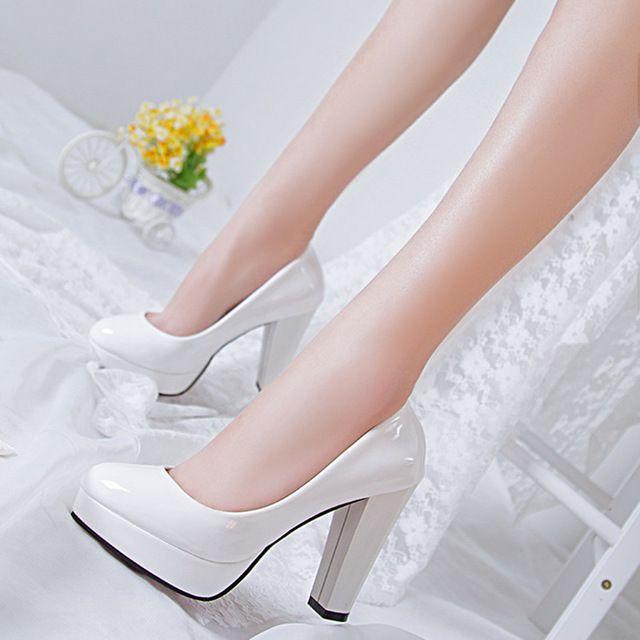 2016 El Nuevo Verano de Tacones Rojos Zapatos Blancos de La Boda Zapatos de  Novia de