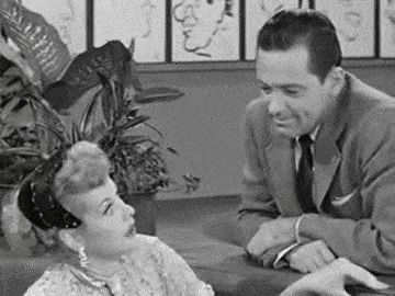 I LOVE LUCY (1955) ~ Season 4, Episode 16. William Holden guest stars. [GIF]