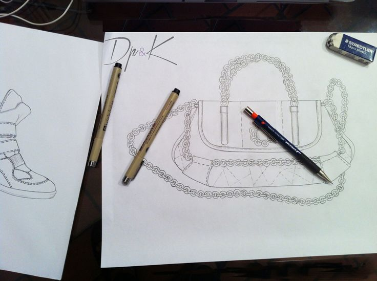 Handbag & sneackers hand drawn pencil sketch  by DpK fashion design studio #sketch #illustration #draw #handbags #leathergoods #accessories #fashion