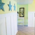 quick wall decor with tin stars