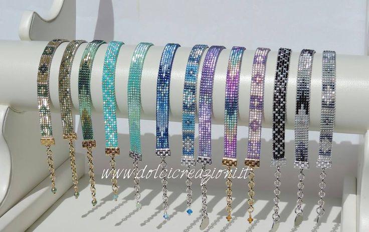 Bracciali realizzati a telaio - beadloom bracelets