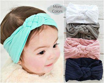 Baby headband, baby nylon headband, baby girl headbands, baby hair bows, DHALIA big flower headband, newborn headbands, baby head wraps  – moños