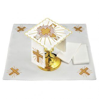 Linge autel coton croix lance couronne d'épines | vente en ligne sur HOLYART
