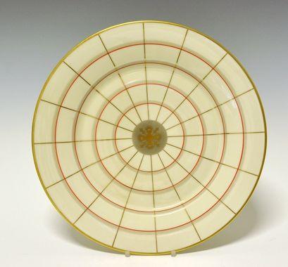 Dinner plate by Nora Gulbrandsen for Porsgrund Porselen. Production year 1927-37. Model 15.00  Decor 8213